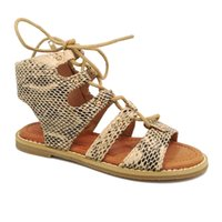 Crossed Lace Gladiator Kids Sandals Girls Toddler Flat Shoes...