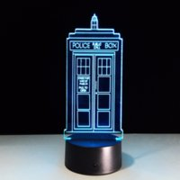 Doctor Who Police Pavilion Call Box 3D LED Table Lamp Touch ...