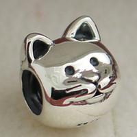 925 стерлингового серебра любопытный кот и Мяу очарование шарик подходит европейский стиль Пандора ювелирные изделия браслеты ожерелья подвески