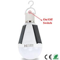 Edison2011 업그레이드 충전식 Led 전구 12W E27 LED 태양 램프 85V-265V 야외 비상 태양 전원 전구 캠핑 하이킹 낚시 빛
