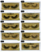 Hot 22 Style False Pestañas Visón 3D Pestañas Pestañas Desordenado Natural Largo Grueso Faux Eye Lashes Maquiagem