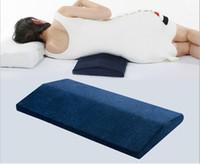 Piernas al por mayor de carbón de bambú almohada lumbar triángulo dormir trasero de la cintura del cojín del amortiguador de apoyo embarazada Almohada Cervical Proteger de cama