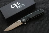 Free shipping, CH1047G10 Flipper folding knife D2 blade ball ...