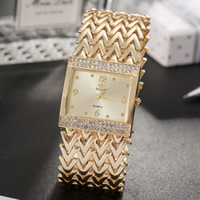 Grealy  women's square wristwatches 2018 new diamond watch dial women watches bracelet gold/rose gold/silver band with box