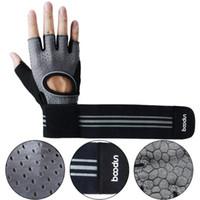 Boodun nouveaux hommes et femmes demi doigt gants de remise en forme anti-dérapant usure équipement haltère poignet sport gants de fitness
