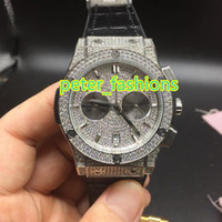 AAA Silver diamond luxury men' s watches high quality fa...