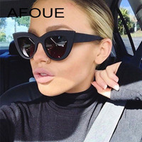 AFOUE Retro Thick Frame Cat Eye Sunglasses Women Ladies Fash...