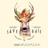Moda Engraçado Animal Veados Adesivos para Roupas 18.8 * 22 CM Patches Adesivos DIY T-shirt Jaqueta de Ferro em Patches