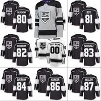 # 88 Jarome Iginla Jersey Los Angeles Kings 78 Alex Iafallo 82 Chaz Reddekopp 86 Sam Kurker Personnalisé Chandails De Hockey Noir Blanc Livraison Gratuite