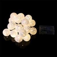 أضواء عيد الميلاد مهرجان في الهواء الطلق متعدد الألوان أضواء سلسلة LED 20 جولة الكرة الكراك البيض عطلة الزفاف حزب زخرفة