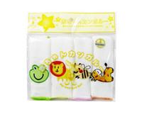 4 шт./пакет младенческой банное полотенце мочалки для купания кормления салфетки ткань Baby мыть ткань новорожденных детей по уходу за ребенком кормящих полотенце