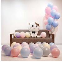 Утолщаются 12 дюймов один слой macarons конфеты цвет серии воздушные шары свадьба украшения шар цепи