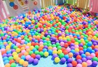 Toptan 5.5 cm kalın çevre dostu deniz topu bebek banyo topu çocuk açık oyuncak top dalga topları renkli