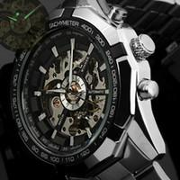 a92bce62fdb 2016 Hombres Relojes de primeras marcas de lujo Ganador Reloj Esqueleto de  Moda Hombres Reloj Deportivo