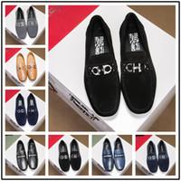 f420a88af0d8 2018 Luxus Herren Kleid Schuh Nieten Patchwork Slip-On Plattform Höhe  Zunehmende Schuhe Echtes Leder