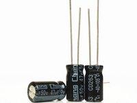 10 sztuk / partia 50 V 47uf 6 * 12 Aluminiowy kondensator elektrolityczny 47UF 50V 6x12mm używany i odnowiony, ale w dobrym stanie