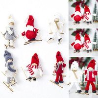 Wholesale 1 PCS Woolen Skiing Santa Snowman Doll Hanging Chr...