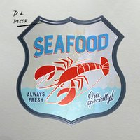 DL- SEAFOOD always fresh our specially lobster wall stickers ...