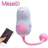 Meselo App Remote Control Vibrator Mini Cat Shape Секс-игрушки для женщин Силиконовый вибрационный клитор G-spot Вибратор Мастурбатор Новый D18110607