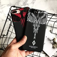 Wholesale Designer Phone Case Wing Scrub pour IPhone X 6 / 6S 6plus / 6S Plus 7/8 7plus / 8plus Mode Marque Print Phone Protection Rouge Blanc