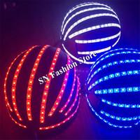 DC73 бальный танец светодиодные костюмы робот мужчины сценическое шоу носит шлем красочные RGB свет dj бар платье клуб производительность партии одеть модели led