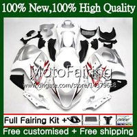 Body For SUZUKI Hayabusa White silver GSXR1300 08 09 10 11 1...