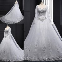 Vintage A line Wedding Dresses Sweetheart Applique Sequins L...
