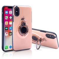 Ring Kickstand Fall Hybrid Schutz Stoß- Magnetic Auto-Kasten-Abdeckung für iPhone Xr Xs Max 8 7 6 6S Plus-Sumsung S9 Plus-Note8