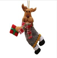 مرح الحلي هدية عيد الميلاد سانتا كلوز ثلج شجرة القماش لعبة دمية 18 * 10 سنتيمتر الميلاد شنق ديكورات enfeites دي ناتال nt #