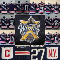 #93 Mika Zibanejad Jersey 2018 Winter Classic New York Rangers 10 J.T. Miller 11 Mark Messier 20 Chris Kreider 76 Brady Skjei Hockey Jerseys