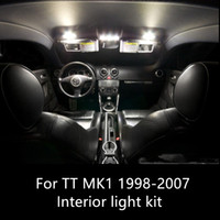 Audi TT MK1 1998-2007 자동차 액세서리에 대 한 8pcs canbus 자동 LED 전구 자동차 인테리어 조명 키트 램프 오류 무료