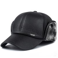 Winter new men' s hat faux leather baseball cap fashion ...