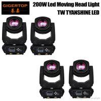 TIPTOP 4 Pack 200W LED Moving Head éclairage tache d'éclairage dj set lumières de Noël gobo dj projecteur de lumière pour l'événement de partie de barre TP-L660