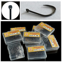 800pcs 8box 3- 10# Ise Hook High Carbon Steel Without Hole Ba...