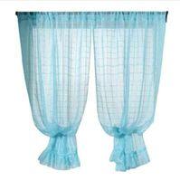 Мода Окна Шторы с кружевной решеткой сплошной цвет окна лечение занавес панели двери драпировка #XG