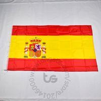Испания национальный флаг Бесплатная доставка 3x5 FT / 90 * 150см висячие Национальный флаг Испании Домашнее украшение баннер