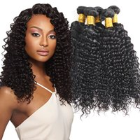 Brazilian 3Pcs & 4Pcs Curly Deep Wave Bundles 100% Unprocess...