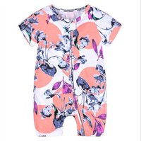 Macacão de bebê de verão roupas de bebê recém-nascido meninas roupas de manga curta de algodão macacão macacão infantil