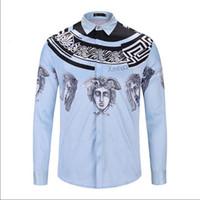 Hombres camisa de manga larga de impresión para hombre camisas diseños  formales sociales hombres camisa casual 1c21ece1210