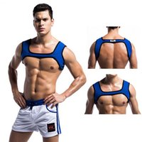 Man Fitness Essential Neoprene Fit Sports Shoulder Strap Strong Muscle Chest Harness Golds Gym Bodybuilding Top