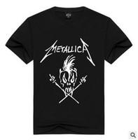 Camiseta de moda para hombre de Europa y América METALLICICA Banda de metal con manga corta impresa Camiseta Hombre Algodón Casual Tops