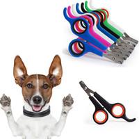 Acero inoxidable Pet Nail Clippers Portable Animal Dog Cats Garra del dedo del pie Grooming Nail Clippers Tijeras Trimmer 8 colores