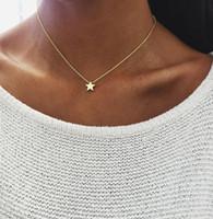 Moda Ay Yıldız Kolye Charm Kolye Kadınlar Takı için Altın Gümüş Kaplama Alaşım Kolye Gerdanlık Tıknaz Zincir Bib Kolye