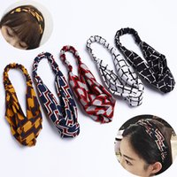 Bohemian Lolita Check Simple Headband Turban Girl Sport Yoga...