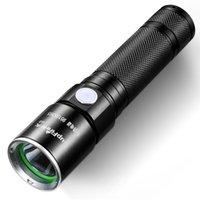 Lanterna Tática à prova d 'água SupFire Tocha Brilhante 350 Lumens LED Com 18650 Bateria Incluído, Recarregável Com USB Diretamente, 5 Modos G3