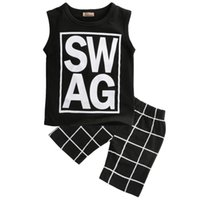2pcs Toddler Infant Newborn Kids Baby Boy Sleeveless Clothes Casual T shirt Tops Pants Outfits Set