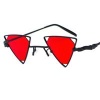 Vintage Punk Triangle Sonnenbrille Frauen Vintage Punk Metallrahmen rosa gelb schwarz rot Sonnenbrille für Männer 2018 Party Dekoration W5