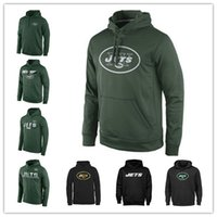 Felpa New York Jets Sideline Circuit Green Player Practice Performance Felpa Pro Line Black Gold Collezione Pullover Printing Hoodies