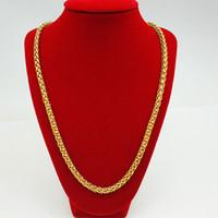 Модное мужское ожерелье колье цепи византийского твердого 18K желтое золото заполнено хип-хоп классический мужской ювелирные изделия подарок