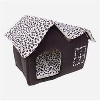 2019 مبيعات! سوبر لينة النمط البريطاني بيت الحيوانات الأليفة الحجم M القهوة الكلب بيوت الكلاب الملحقات